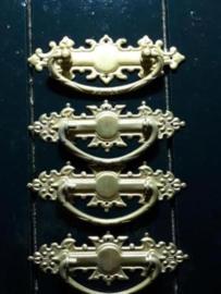 Oud Koperen Sleutelplaatje 11.7x4 cm