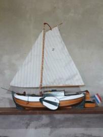 Oude Vintage Modelboot Handwerk Schaalmodel Boot Botter