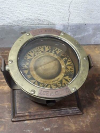 Oud Antiek Scheepskpmpas Kompas Chris Olsen Grimsby