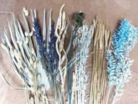 Gemengde Bos Droogbloemen Pakket Mix DIY Blauw Naturel