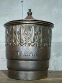 Oude Antieke Koperen Tabakspot