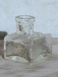 Oud Antiek Brocante Inktpotje Inktflesje voor Griffel