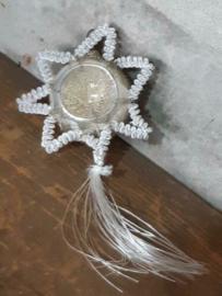Oude Antieke Kerstbal  3850 Ster Komeet Chenille Tinsel