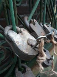 Oud Vintage Metalen Hangslot Slot XL