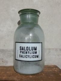 Oude Vintage Russische Apothekersfles met Etiket