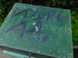 Oude Brocante Houten Kist Koffer Groen