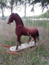 Oude Antiek Brocante Speelgoedpaard Hobbelpaard