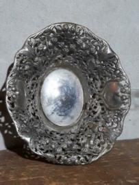 Oude Vintage Verzilverde Mand Broodmand Silverplate