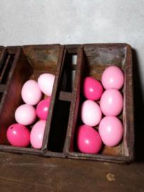 Set van 12 Roze Paaseieren Kippenei Ei Rose