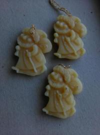 Oude Antieke Vintage Kersthangers van Was 562 Kerstmannen