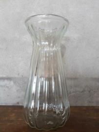 Oud Gerecyclede Bloemenvaas Glas Vaas Persglas Taps