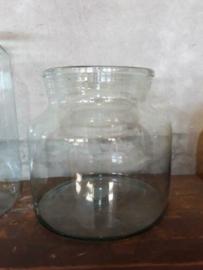 Oud Gerecyclede Bloemenvaas Glas Vaas Pickle Jars Maat M