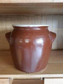 Oude Brocante Grote Grespot Pot Aardewerk