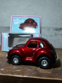 Oud Vintage Blikken Speelgoed - China - VW Beetle Kever Auto Rood MF145