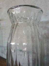 Oud Gerecyclede Bloemenvaas Glas Vaas Persglas Recht