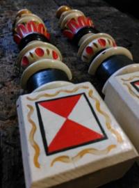 Oude Antiek Brocante Kast Ornamenten Volkskunst