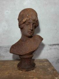 Gietijzeren Beeld Buste Tuinbeeld Vrouw