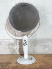 Oude Vintage Porseleinen Kapspiegel Spiegel