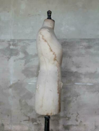 Oude Antieke Mannequin Buste Paspop op Voet Juvenia Bruxelles
