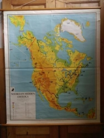 Oude Brocante Schoolplaat Noord en Midden Amerika NR2