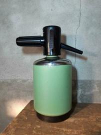 Oude Vintage Spuitfles Sifonfles Mint Groen