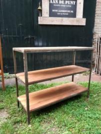 Oud Vintage Industrieel Rek Wandkast Wandrek Kast