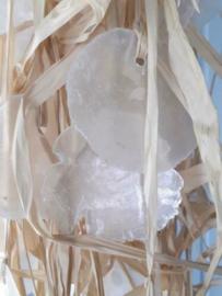 Schelpenhanger - Schelpenslinger Mobile Capiz Schelpen met Raffia