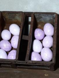 Set van 12 Lila Paaseieren Kippenei Ei Paars