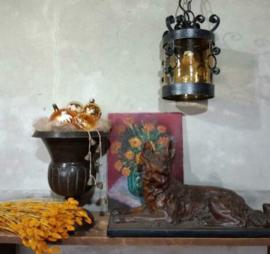Inspiratie Oude Brocante Hanglamp Herdershond Vaas