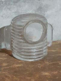 Oude Brocante Glazen Voerbakje Waterbakje Vogelkooi