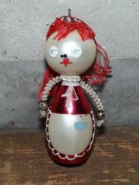 Oude Antieke Kerstbal  3720 Poppetje Vrouw Meisje