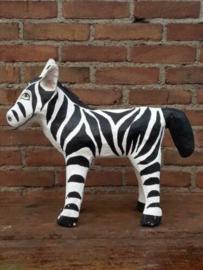 Oude Vintage Papier Mache  Dier Zebra