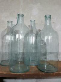 Oude Vintage Gistfles Fles Helder