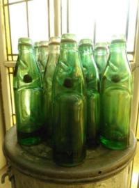 Oude Antieke Brocante Knikkerfles Kogelfles Codd Bottle Victory