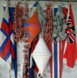 Inspiratie Oude Vintage Maritieme Drijvers en Seinvlaggen