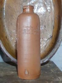 Oude Antieke Fles Kruik Overseas Trading  Rare Schiedam