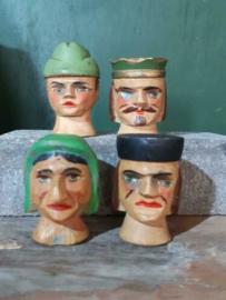 Oude Antieke Set Houten Poppenkastpoppen Poppenkast Jan Klaassen