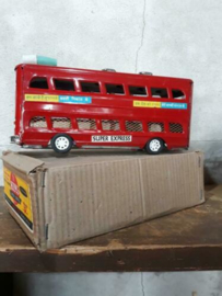 Oud Vintage Blikken Speelgoed - China - Dubbeldekker Bus Super Express
