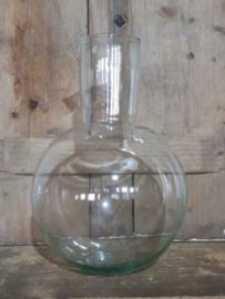 Oud Gerecyclede Bloemenvaas Glas Vaas Karaf