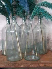 Oude Vintage Gistfles Fles Helder - Groen