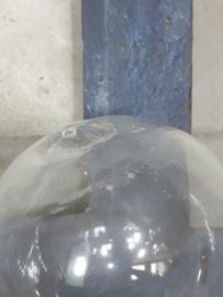 Oude Antiek Vintage Glazen Drijver Transparant Mist