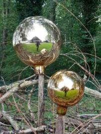 Glazen Heksenbal Heksenbol Goud 15 cm naar Oud Antiek Model