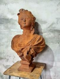 Gietijzeren Beeld Buste Tuinbeeld Marie Antoinette Groot