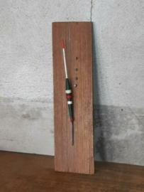 Oude Vintage Houten Plankje Haspel met Dobber en Lood