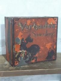 Oud Antieke Verkade Winkelblik Blik Speculaas