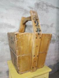 Oude Authentieke Chinese Rijstbak Rijstkist Oker