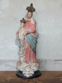 Oude Antiek Maria des Victoires Beeld Mariabeeld