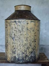 Oude Brocante Metalen Winkelblik Voorraadblik Kruidenier