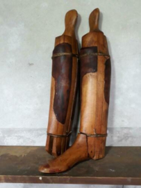 Oude Antiek Brocante Set Houten Laarzenspanners