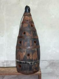 Oude Antieke Houten Drijver Joon Breel Lamp